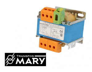 Transformateur de sécurité 40VA, Primaire 230-400V - Secondaire 2x24V