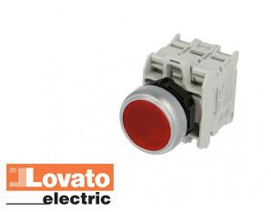 Bouton poussoir lumineux à LED, à impulsion. Rouge. 230V
