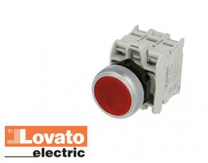 Bouton poussoir lumineux à LED, à impulsion. Rouge. 24V