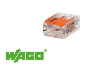 100 connecteur 2 entrées pour fil souple ou rigide