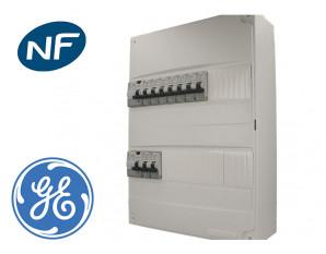 Tableau pré câblé General Electric 9 disj. et 2 interrupteurs diff