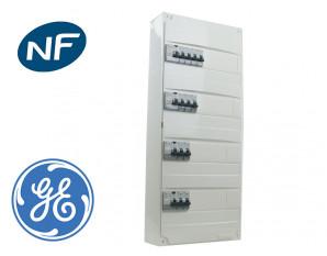 Tableau pré câblé General Electric 11 disj. et 4 interrupteurs diff