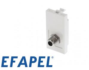 Prise TV demi module Efapel 45x45