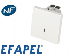 Interrupteur lumineux Efapel 45x45