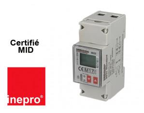 Compteur Electrique Monophasé. Double tarif certifié MID