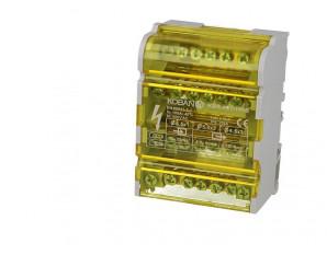 Répartiteur à barrettes étagées tétrapolaire 100A