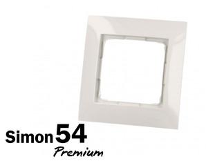 Plaque de finition blanche simple Simon Premium