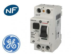 Interrupteur Différentiel 2P 63A / 30mA / type AC
