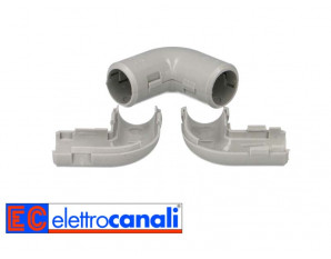 Jonction coude pour tube IRL ø16mm - par 10