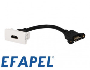 Prise HDMI demi module Efapel 45x45