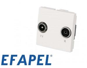 Prise TV + FM Efapel 45x45
