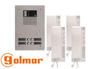 Kit interphone avec 4 combinés GOLMAR Collectif