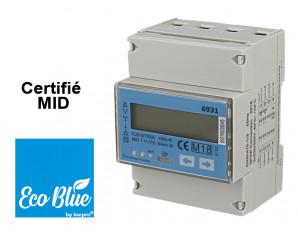 Compteur Electrique Triphasé, double tarif, certifié MID