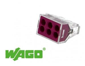 50 connecteurs WAGO 6 entrées (violet)