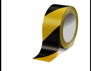 Ruban jaune et noir 66 m