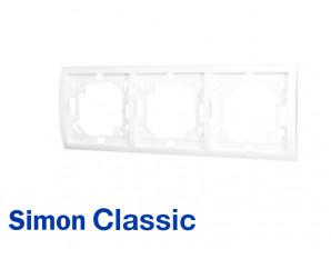 Plaque de finition blanche Simon Classic