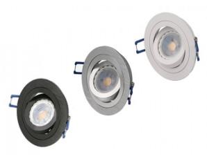 Lot de 3 spots orientables GU10 LED à encastrer complet