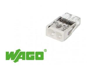100 bornes WAGO ultracompacte 2 entrées (blanc)