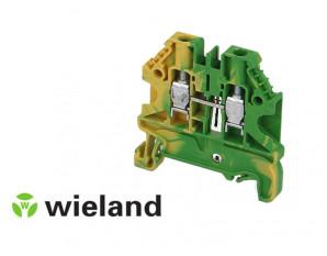 Borne de jonction A VIS. 6mm² - VERT/JAUNE