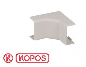 Angle intérieur pour moulure PVC blanche 20 x 10 mm KOPOS