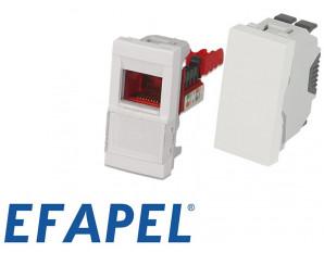 Appareillage 45x45 demi module Efapel Quadro 45