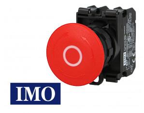 Arrêt d'urgence complet à accrochage Ø22mm, 1NO+1NC