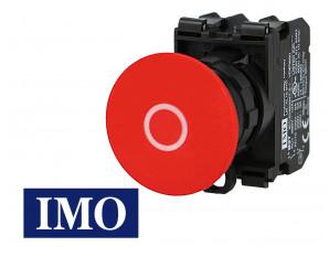 Arrêt d'urgence IMO complet à impulsion Ø22mm, 1NO+1NC