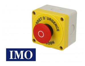 Boitier avec arrêt d'urgence complet à accrochage Ø22mm, 1NO+1NC