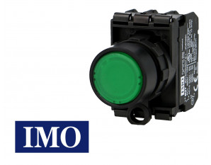 Bouton poussoir lumineux affleurant à impulsion IMO Ø22