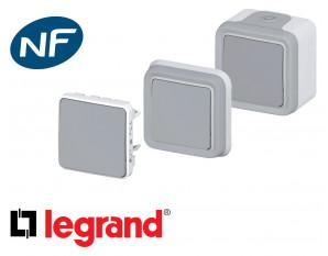 Poussoir simple Legrand Plexo™ gris