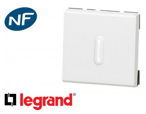 Poussoir lumineux 2 modules Legrand Mosaic composable