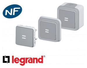 Poussoir lumineux Legrand Plexo™ gris