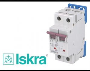 Disjoncteur bipolaire modulaire 32A courbe D Iskra
