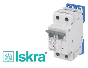 Disjoncteur bipolaire modulaire 10kA courbe D Iskra