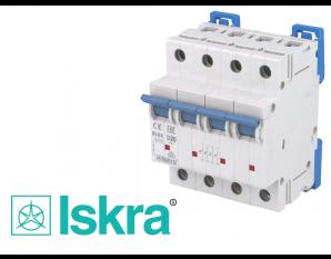 Disjoncteur tetrapolaire modulaire 20A courbe D Iskra