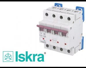 Disjoncteur tetrapolaire modulaire 32A courbe D Iskra