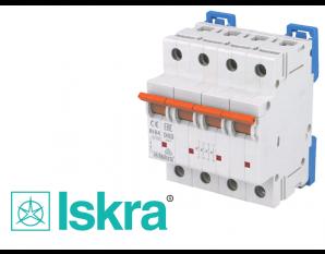 Disjoncteur tetrapolaire modulaire 63A courbe D Iskra