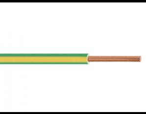 Fil HO7VU 1.5² vert/jaune
