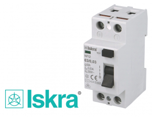 Interrupteur Différentiel 2P 63A / 30mA / type AC Iskra