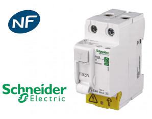 Interrupteur différentiel 2P 40A 30mA Type A Schneider Resi9 XP