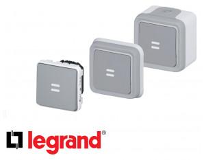 Interrupteur temporisé à voyant Legrand Plexo™ gris