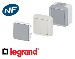 Interrupteur va et vient Legrand Plexo™ complet