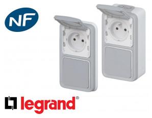 Interrupteur va-et-vient + prise 16A 2P+T Legrand Plexo™