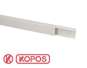 Moulure électrique PVC autocollante 20x10mm, longueur 1m20