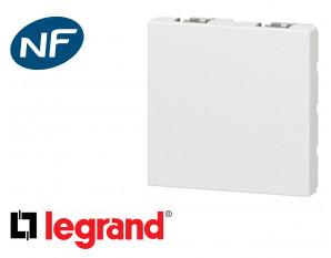 Obturateur 2 modules Legrand Mosaic composable