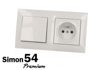 Plaque de finition blanche Simon Premium