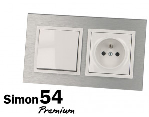Plaque enjoliveur finition inox Simon Premium