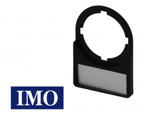 Porte étiquette + étiquette pour bouton Ø22mm (lot de 5)