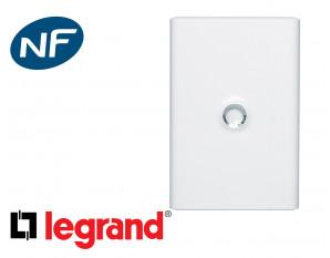 Porte blanche pour coffret 2 rangées Legrand Drivia