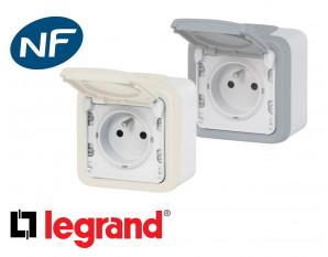 Prise electrique 16A 2P+T Legrand Plexo™ complète
